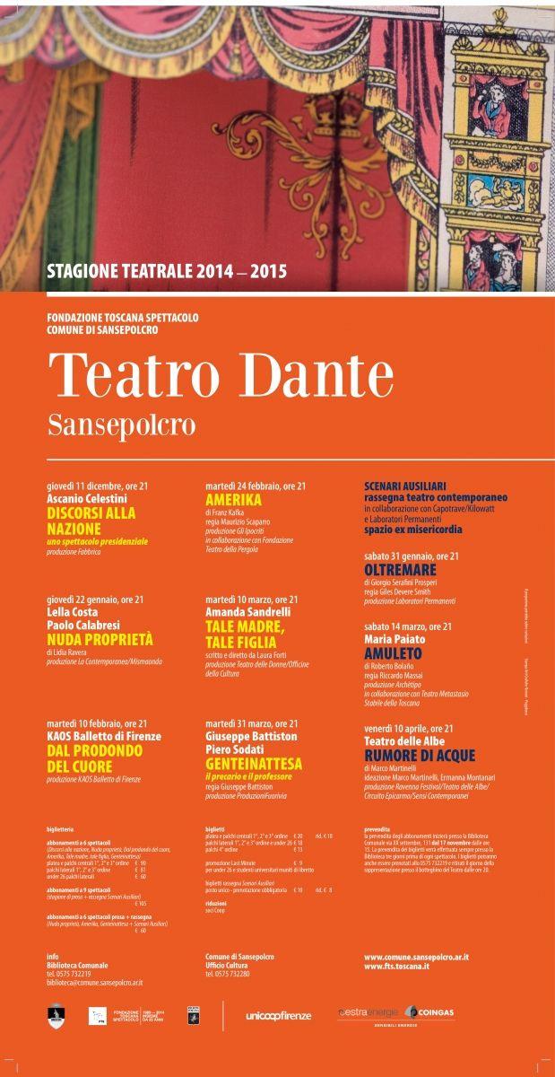 STAGIONE TEATRALE 2014-2015 | Biblioteca comunale di Sansepolcro