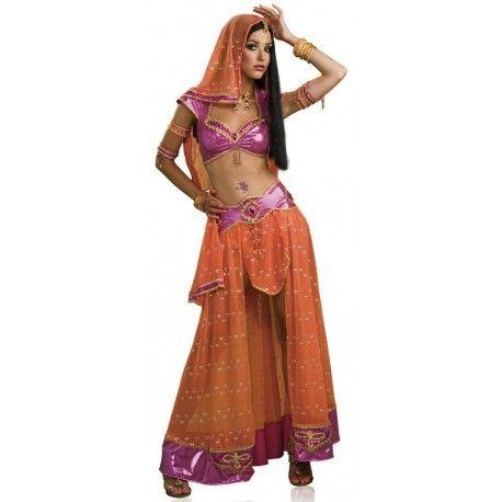 fantasia feminina indiana danarina de bollywood festa halloween carnaval - Halloween Indiana