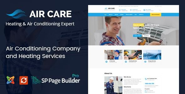 Air Care Joomla Template For Heating And Air Conditioning