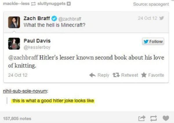 A good Hitler joke.