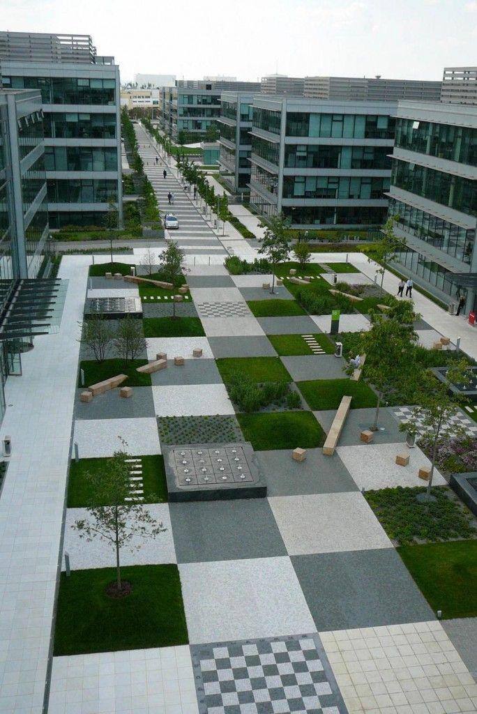 modern urban space