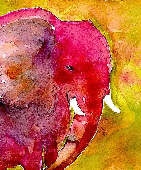 Elephant. You could so do this @McLean Widmer… you need to branch out into watercolors.