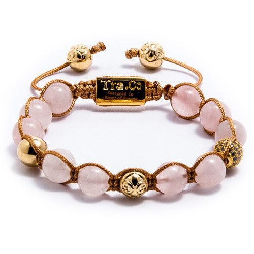Rose Quartz & White Zircon ball & Logo ball & 14K Gold plating