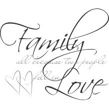 Family, all because two people fell in love