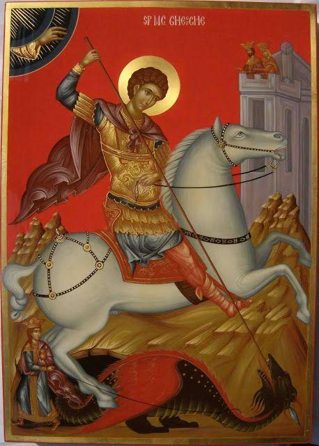 Αγ.Γεωργιος Ο Μεγαλομαρτυρας Και Τροπαιοφορος (275 - 303) ___april 23 ( Whispers of an Immortalist: Icons of Martyrs 12