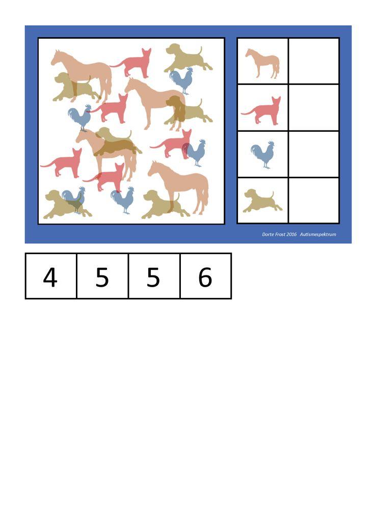 Farm animals counting game. By Autismespektrum