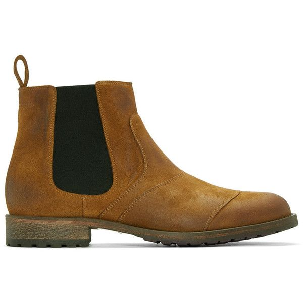 Belstaff Brown Lancaster Chelsea Boots (3,635 CNY) ❤ liked on Polyvore featuring men's fashion, men's shoes, men's boots, brown, mens brown boots, mens suede boots, mens brown suede shoes, mens brown suede chelsea boots and belstaff mens boots