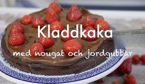 Perfekt kladdkaka med nougat och jordgubbar, en sommardröm!