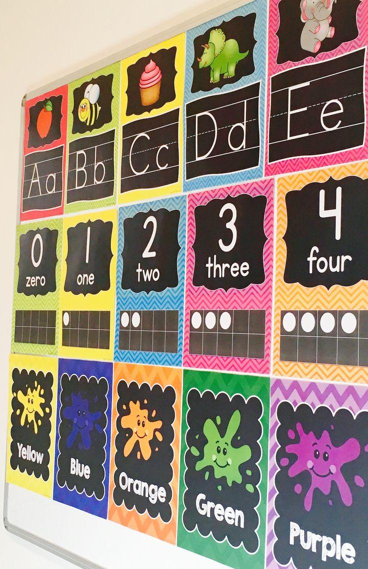 Classroom Decor Bundle In Chalkboard and Chevron | school ...