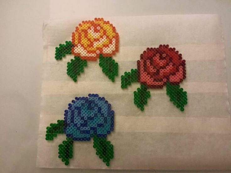 Rosas en hama perler beads