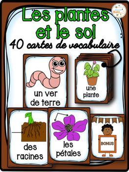 40 cartes de vocabulaire sur les plantes et le sol. Ces cartes peuvent être utilisées pour le mur de mots, comme référentiels ou pour des jeux de littératie.