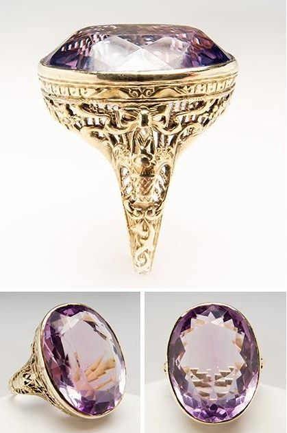 Antique Filigree Amethyst Ring