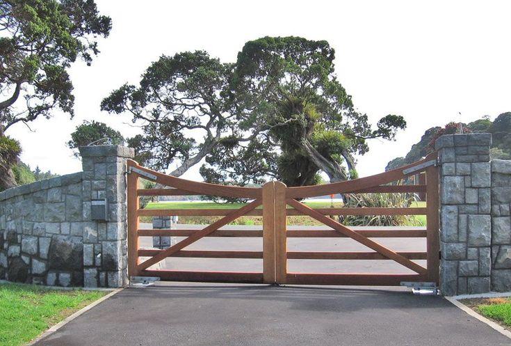 Clevedon xl wooden gates fences driveway gates wooden