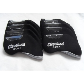 10PCS Cleveland Golf Iron Headcovers Head Covers Black