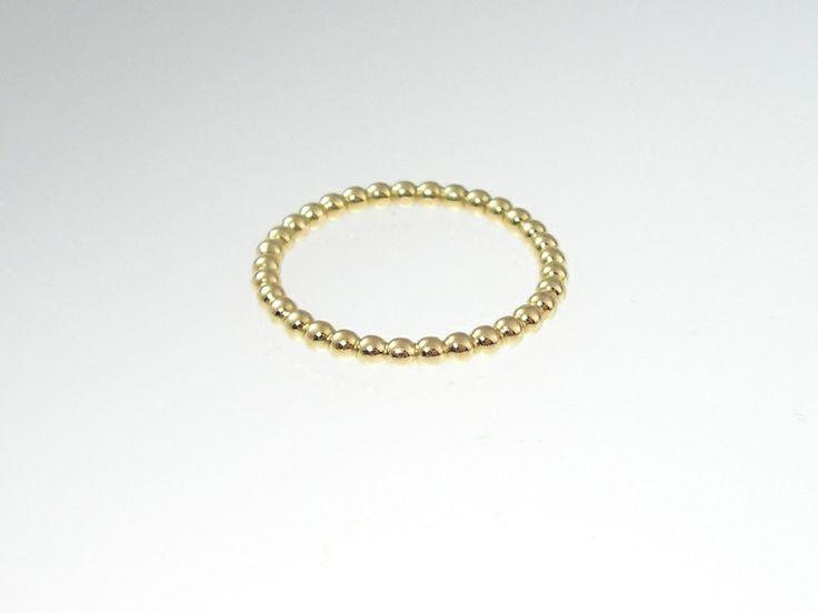 KÜGELCHEN Vorsteckring Gold 750 ( 2mm) von Silke Seip -  Werkstatt & Design    auf DaWanda.com