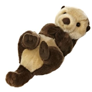 Realistic Stuffed Sea Otter 10 Inch Plush Animal by Aurora