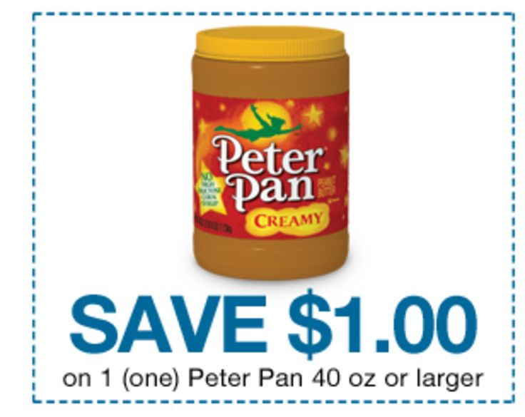 Great deals on Peter Pan Peanut Butter at Crest and Homeland http://www.couponcloset.net/great-deals-peter-pan-peanut-butter-crest-homeland/