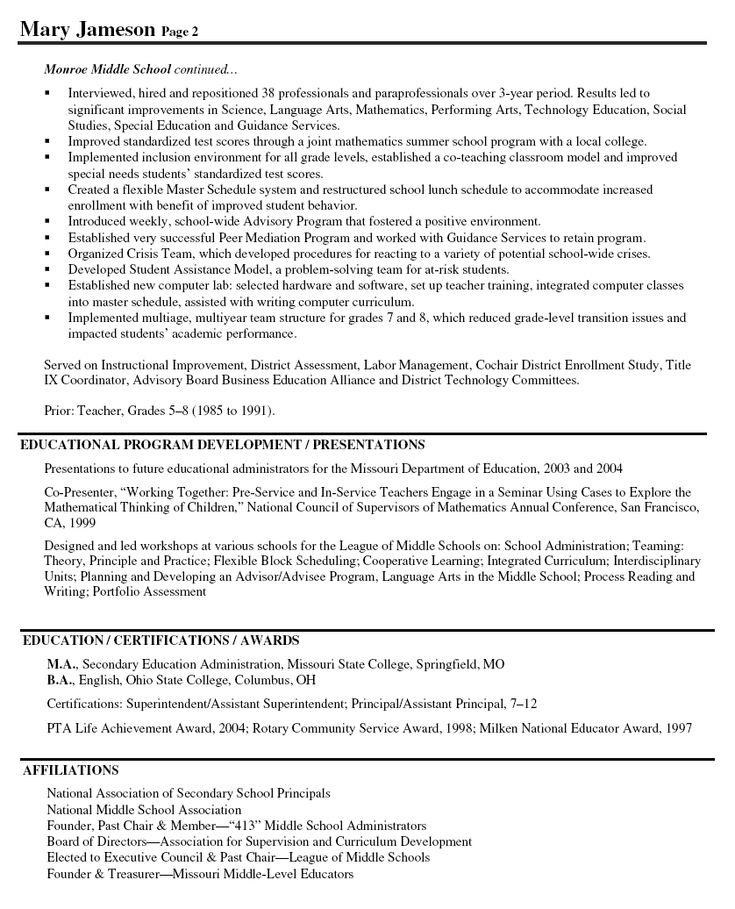 assistant principal resume sample beautiful sample principal