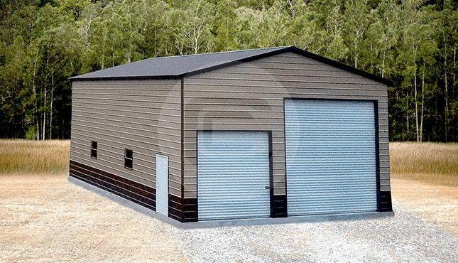 30 X 41 Large Garage Building Metal Garages Garage Door Design Outdoor Storage Buildings
