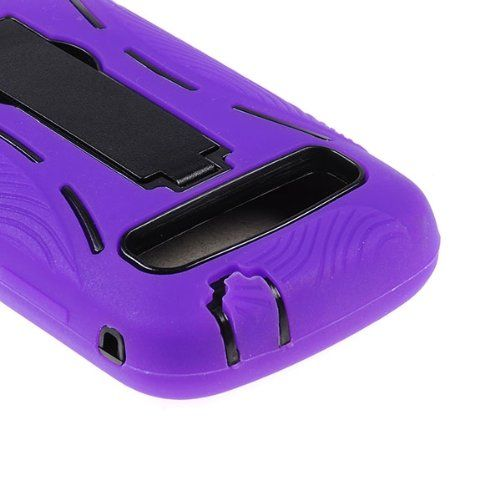 Buy DOUBLE IMPACT CASE + SCREEN PROTECTOR FOR SAMSUNG ADMIRE / VITALITY R720 PURPLE BLACK NEW for 9.85 USD | Reusell