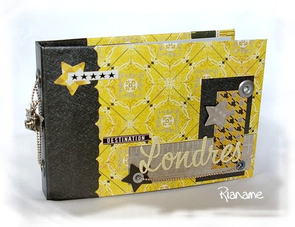 "Mini ""Destination Londres"" par Marianne de Cartoscrap + tuto"