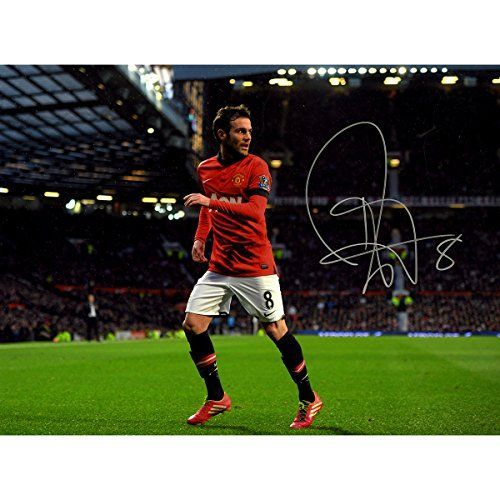 Juan Mata Autographed Manchester United Old Trafford Photo Icons Authenticated Third Party Hologram ** See this great product.