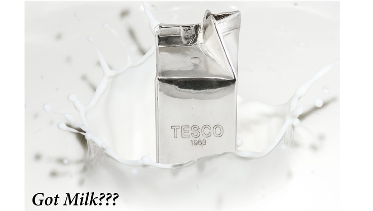 We take the original packaging of the product and we create unique businesses gifts, as we did with Tesco, where we have been asked to coat the milk carton packaging with shiny metal and create something magnificent and useful at the same time.