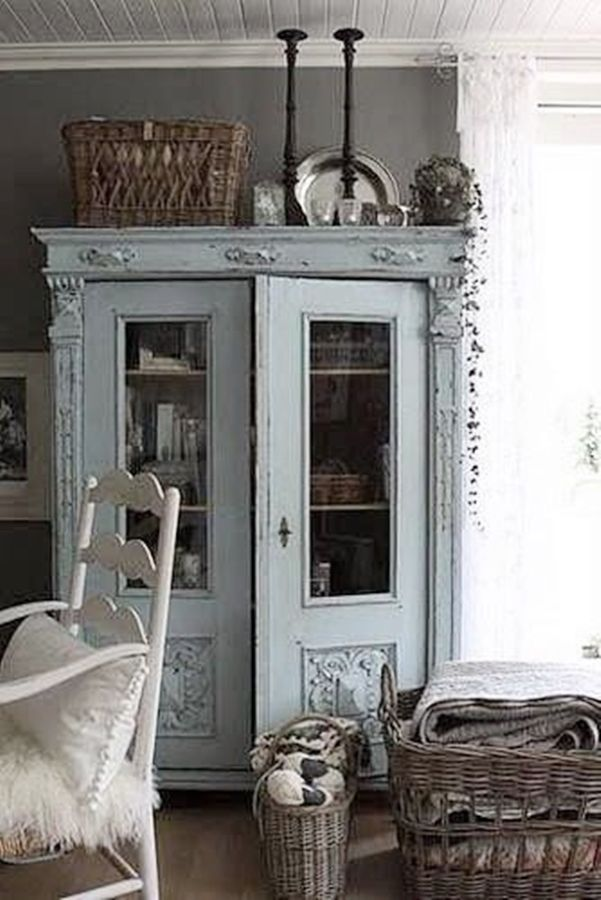 Lovely vintage blue armoire