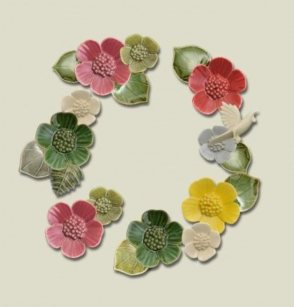 Bob Steiner Ceramic Flowers - The Garden Party.  From $49 - $70