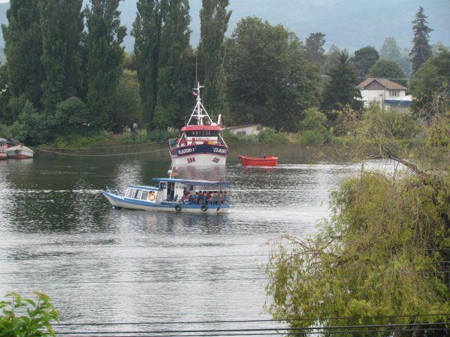 El rio desde la ciudad de Valdivia.
