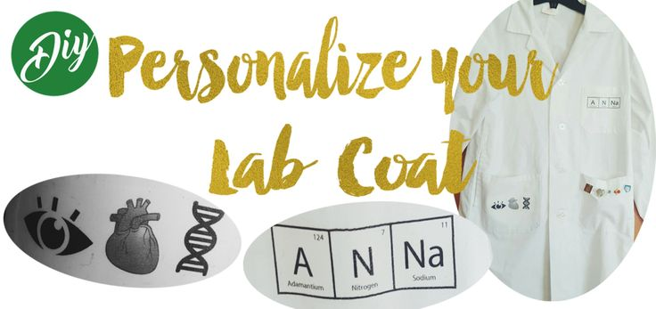 Personalize your lab coat yourself! Easy, Fast and Cheap! :D Science, DIY, Biology, lab coat, decorated
