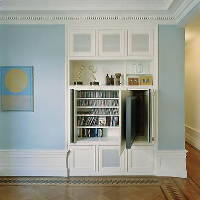 Awesome Idea For Hidden TV James Wagman Architect, LLC   Apartment    Riverside Dr   Eclectic   Living Room   New York   James Wagman Architect,  LLC
