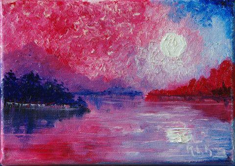 pink, blue, red, white. pablo picaso-esque
