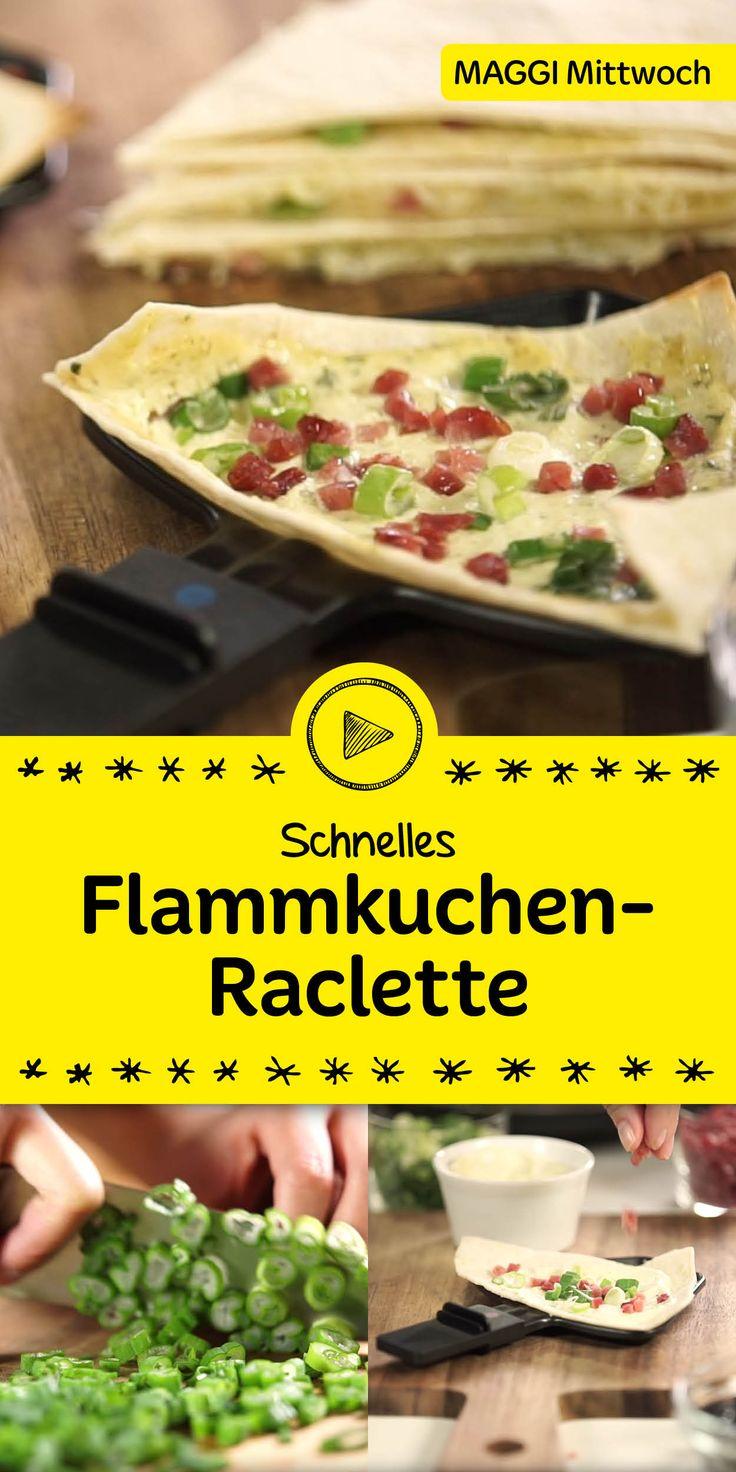 Ob Flammkuchen-Raclette oder Quesadilla - wir haben hier zwei tolle Ideen für dich im Gepäck! In unserem Video zeigen wir dir eine köstliche Variante für deinen nächsten Raclette-Abend. Schau rein und lass dich inspirieren.