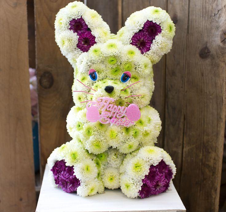 happy easter bunnies flowers-#5
