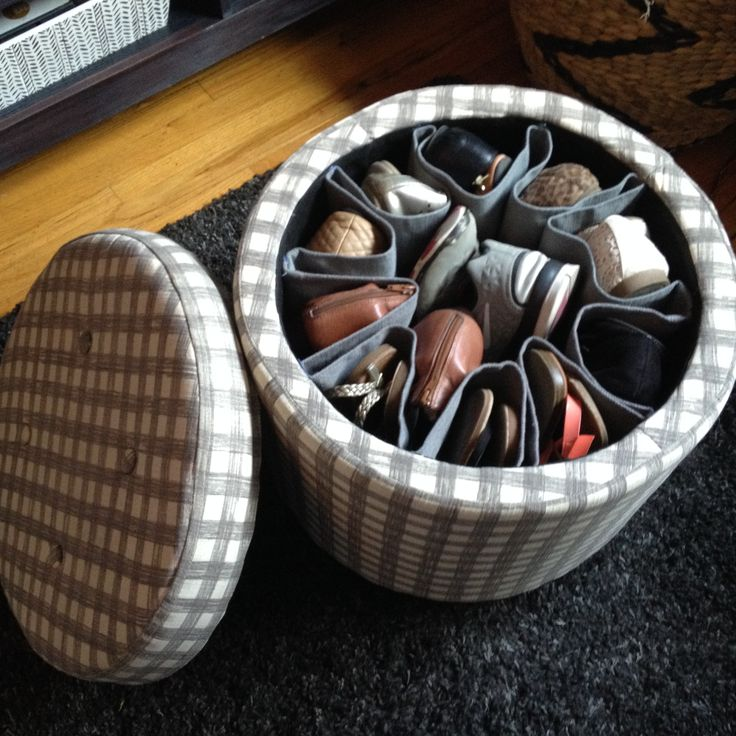 Diy Shoe Storage Ottoman What A Great Idea Fabulous I