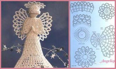 PRECIOSOS ANGELITOS TEJIDOS A CROCHET,,    MUCHAS IDEAS ..!!!                  ALGUNOS ANGELES NO TIENEN EL GRAFICO.........