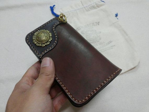 Check out this item in my Etsy shop https://www.etsy.com/listing/263103866/handmade-leather-middle-wallet-biker