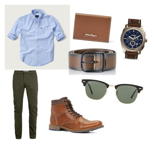 by mariuccia1 on Polyvore featuring polyvore Abercrombie & Fitch Topman ALDO FOSSIL Ray-Ban Salvatore Ferragamo Diesel men's fashion menswear clothing
