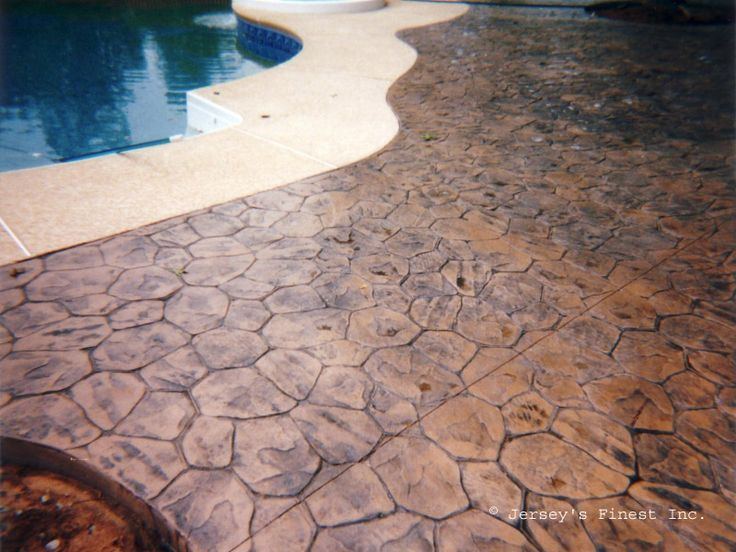 1000 images about stamped concrete on pinterest stamped for Cool decking around pool