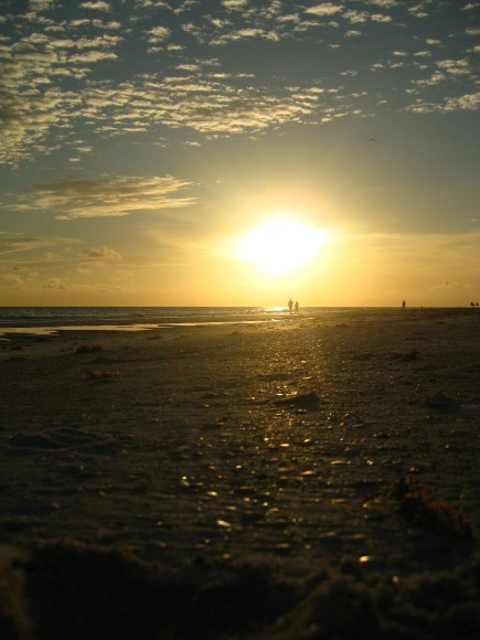 almost evening in Anna Maria, Florida.