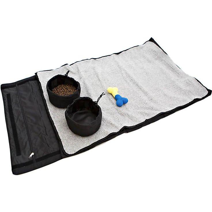 PetZen Zen Bed Roll and Bowls Medium