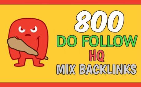 I will create 800 do follow mix backlinks, rank 1st on google now