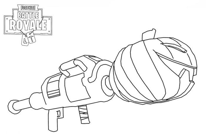 Fortnite Coloring Pages Guns Coloring Pages Cartoon Coloring