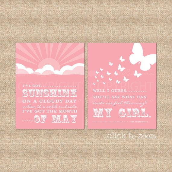 My Girl Art Print Set  8x10  Archival Giclee Art by PaperRamma, $35.00  (if baby girl makes it to may...how perfect!)