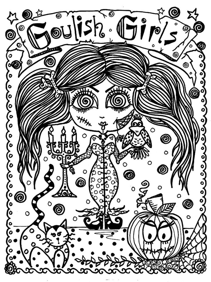 5 Books Halloween Coloring Pack Save Money And Door ChubbyMermaid