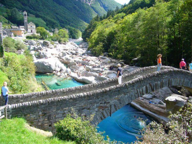 The Old Double Arched Bridge Ponte Dei Salti Which Mistakenly Known As Roman