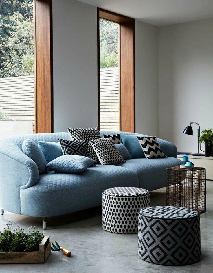 blackwhite and blue  living room designs blue living