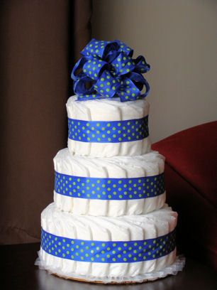 2 tier diaper cake - Google Search