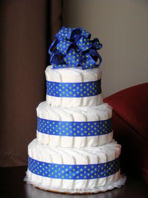 2 tier diaper cake - Google Search